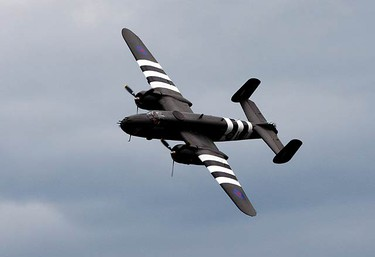 The B-25 Mitchell performs at the Canadian International Air Show at the Canadian National Exhibition in Toronto on Sept. 5, 2010. (CRAIG ROBERTSON, Toronto Sun)