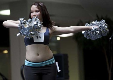 Sarah Teasdale performs during the Crush dance team auditions at City Centre Mall in Edmonton on Saturday, September 11, 2010. (CODIE MCLACHLAN / EDMONTON SUN)