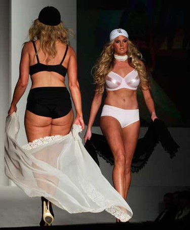 Models present creations for Berelli Curves during the Sydney Fashion Festival at Sydney Town Hall on Aug. 27, 2010.  (REUTERS)