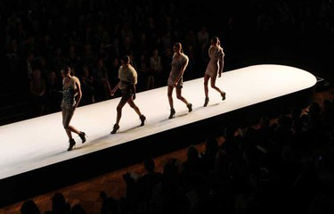 Models present creations for Myer during the Sydney Fashion Festival at Sydney Town Hall Aug. 24, 2010.  (REUTERS)