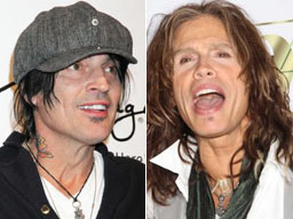 Tommy Lee (left) and Steven Tyler.  (WENN.COM)