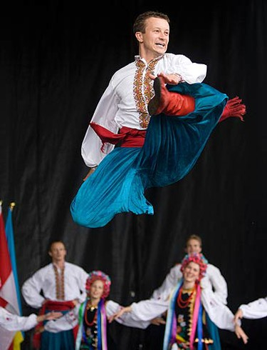 A Ukrainian dance troupe performs at the Flavours of Ukraine Festival at Centennial Park. The festival was established in celebration of Ukraine's independence. (MARK O'NEILL, Toronto Sun)