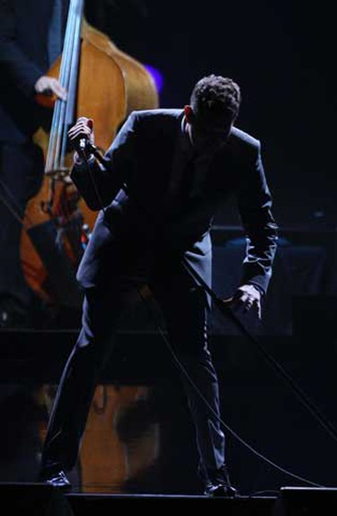 Michael Buble continued his Canadian tour with a gig at Toronto's Air Canada Centre on Tuesday, Aug. 10, the first of two performances there. The singer wraps up the Canadian leg of the tour in Vancouver before heading to the U.S., Europe and Australia next year. (Michael Peake, Toronto Sun)
