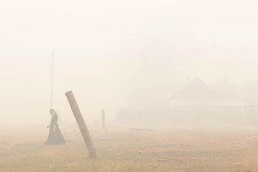 Heavy smog, affected by forest and peat fires and the highest temperatures ever registered in Russia, has killed at least 52 people, made more than 4,000 homeless, diverted many flights and forced Muscovites to wear surgical masks to filter out foul air.  (REUTERS)