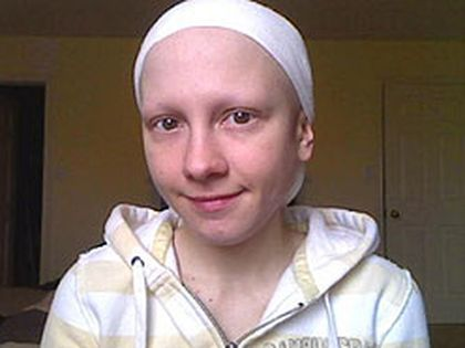 A photo of Ashley Kirilow, who admits she faked her cancer, taken from her MySpace page.