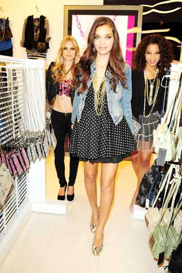 Models are seen wearing items from the new clothing line 'Material Girl',  which was co-designed by both Madonna and her daughter Lourdes Ciccone Leon. This new fall collection officially launched today at Macy's in the Dadeland Mall in Florida, August 2, 2010. (Johnny Louis/WENN.com)