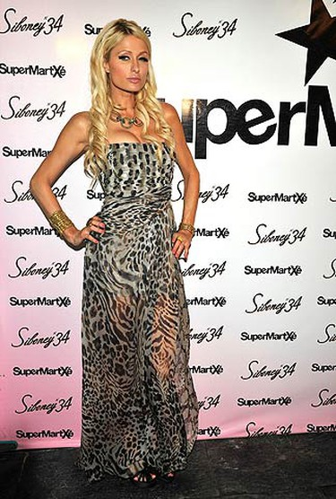 Paris Hilton presents at the 'Supermartxe' party at a club in Ibiza, Spain on July 30, 2010. (WENN.com)