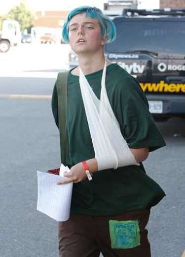In this file photo from June 28, 2010, Natalie Gray, who was injured during a fracas on Eastern Ave., is released late in the afternoon in Toronto.  (Jack Boland/QMI Agency)