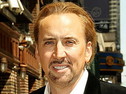 """Nicolas Cage outside the Ed Sullivan Theatre for the """"Late Show With David Letterman"""" on Monday, July 12, 2010. (WENN.COM file photo)"""