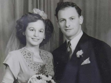Murray Shapiro, 92, a veteran at Sunnybrook wants to spend his last days with his wife Rena. This is  a photo from their 1947 wedding. (STAN BEHAL/Toronto Sun)