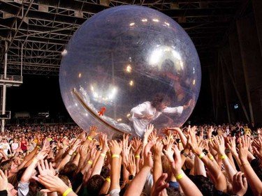 Wayne Coyne and the Flaming Lips performed at the Molson Amphitheatre on July 8, 2010. (Mark O'Neill, QMI Agency)