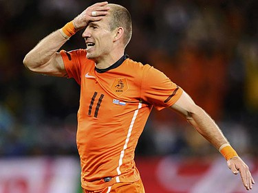 Arjen Robben (Netherlands): He is one of the best players in the game. He can change any game in a matter of seconds. So why all the diving? (REUTERS/Dylan Martinez)