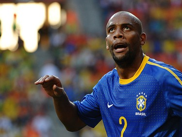 Maicon (Brazil): The Samba Kings may have been booted out of the tourney earlier than expected but don't blame that on Maicon, who was a rock at the back end. His goal against the North Koreans in a 2-1 victory showed he has some offensive flair too. (FRANCOIS-XAVIER MARIT/AFP)