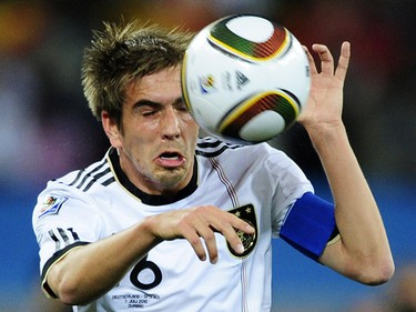 Philipp Lahm (Germany): Having taken over from Michael Ballack as captain, he held this young German team together. His scampers down the right flank often ignited those dangerous German counterattacks. (JOHN MACDOUGALL/AFP)