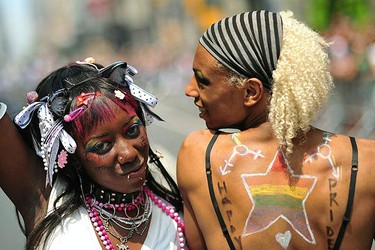 Women participate in the annual Gay Pride Parade in New York June 27, 2010.  (REUTERS)