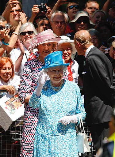 Queen Elizabeth II and the Duke of Edinburgh leave the St. James Cathedral after morning worship in Toronto on July 4, 2010. (ALEX UROSEVIC, Toronto Sun)