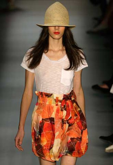 A model presents a creation from British Colony's 2010/2011 summer collection during the Fashion Rio Show in Rio de Janeiro, May 31, 2010. (REUTERS)