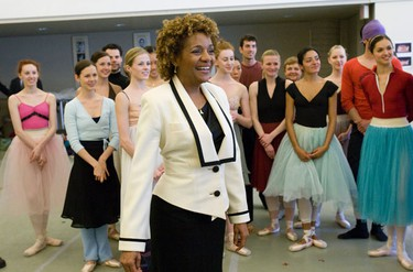 Governor General Michaelle Jean, visits the National Ballet of Canada in Toronto on Monday, May 10, 2010. (STAN BEHAL/QMI Agency)