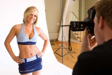 The 2010 Argos Cheerleaders, presented by the Toronto Sun, did their promotional photo shoot on Monday for year's upcoming season.  (MARK O'NEILL/Toronto Sun)