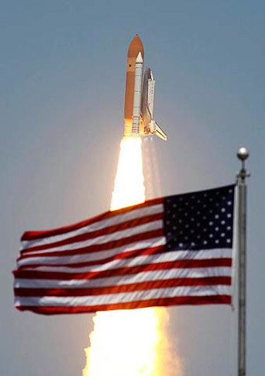 Space shuttle Atlantis lifts-off from the Kennedy Space Center at Cape Canaveral, Fla. on May 14, 2010. Atlantis' 12-day mission will deliver a Russian built storage and docking module to the International Space Station. (REUTERS)