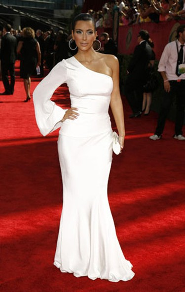 In this file photo, reality star Kim Kardashian arrives at the 61st annual Primetime Emmy Awards in Los Angeles, California September 20, 2009.  (REUTERS)