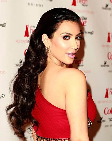 Kim Kardashian arrives for the runway during the Hearts Truth Red Dress 2010 collection during New York Fashion Week on Feb. 11, 2010.  (REUTERS)
