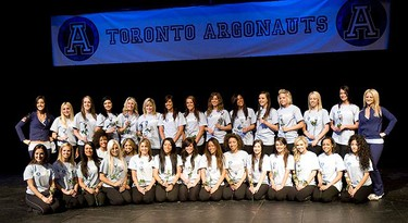 The selections for the 2010 Argo Cheerleaders presented by the Toronto Sun on March 20, 2010. (MARK O'NEILL, Toronto Sun)