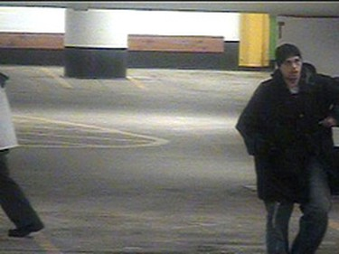 Toronto Police issued surveillance camera photographs of a Feb. 20 robbery at an ATM in the Metro Toronto Convention Centre.