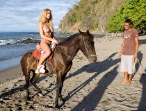 She was bugging us about a horseback ride for days. Finally, Priscilla gets her wish.