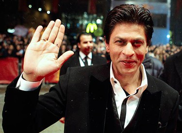 """Bollywood actor Shah Rukh Khan arrives for the screening of his movie """"My Name is Khan"""" at the 60th Berlinale International Film Festival in Berlin on Feb. 12, 2010. (REUTERS)"""