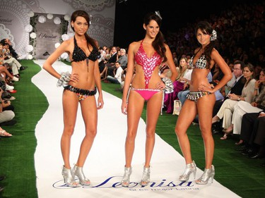 """Models present creations from Colombian brand Leonisa during the """"Colombiamoda"""" fashion show in Medellin July 29, 2009.  (REUTERS)"""