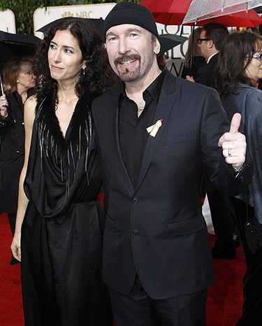 U2 guitarist The Edge and his wife Morleigh arrive at the 67th annual Golden Globe Awards. (Mario Anzuoni, Reuters)