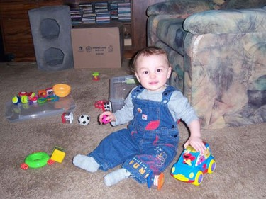 A court has lifted a publication ban on the identity of two-year-old Keagan Davis. (Photo from Facebook)