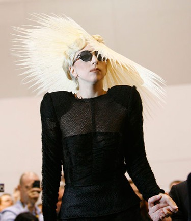 Singer Lady Gaga arrives at a media event where she was announced as Polaroid creative director at the 2010 International Consumer Electronics Show (CES) in Las Vegas January 7, 2010. The show runs from January 7 to 10. (REUTERS)