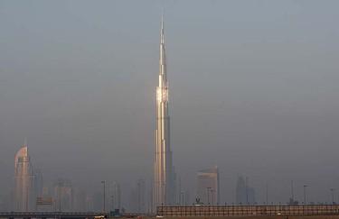 The skyline of Dubai shows the Burj Khalifa Tower, the tallest tower in the world Jan. 4, 2010. REUTERS/Ahmed Jadallah
