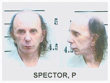 On Feb. 3, 2003, record producer Phil Spector was arrested for the murder of actress Lana Clarkson whose body was found at his house in Alhambra, California. Spector was found guilty and sentenced on May 29, 2009, to 19 years to life in the California State Prison System. (Handout)