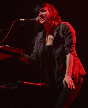 Lights (Valerie Poxleitner), a Juno Award-winning Canadian singer-songwriter, performs at the packed KoolHaus concert hall on Nov. 26. (SUN MEDIA/Jack Boland)