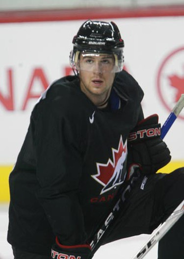 Mike Green at practice at the orientation camp for the Men's 2010 Olympic hockey team held at the Pengrowth Saddledome in Calgary, AB Aug 25/ 09. JIM WELLS/ SUN MEDIA