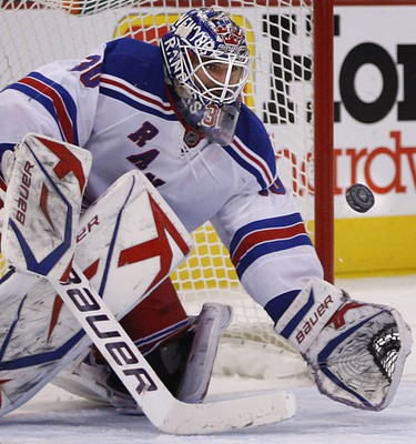 New York Rangers' goalie Henrik Lundquvist during third period action at Scotiabank Place in Ottawa Saturday afternoon. Tony Caldwell/Sun Media