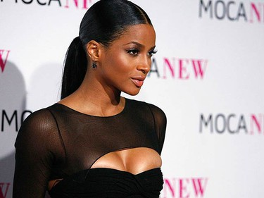 Singer Ciara poses at the MOCA (Museum of Contemporary Art) New 30th anniversary gala in Los Angeles on Nov. 14, 2009. (REUTERS)
