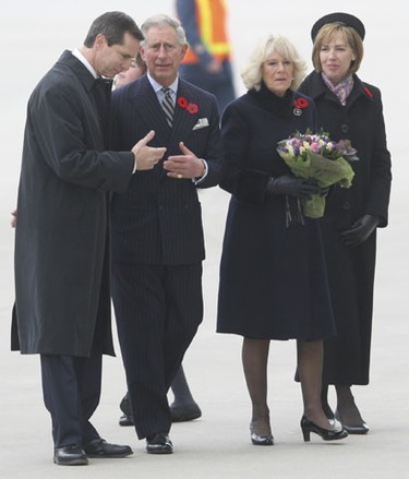 Charles and Camilla began their visit to Canada in Newfoundland on Monday. It is the prince's 16th tour of Canada and Camilla's first. Today, the royal couple is visiting Hamilton's Dundurn Castle, which was home to Sir Allan Napier MacNab, Canada's pre-Confederation prime minister and Camilla's great-great-great grandfather. (SUN MEDIA PHOTOS)
