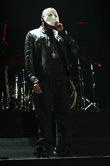 Jay-Z rocks the stage at the Air Canada Centre in Toronto on Oct. 31, 2009. (MARK O'NEILL, Sun Media)
