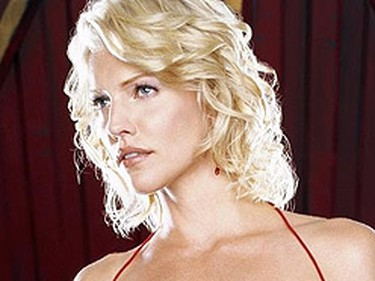 Tricia Helfer is the bodacious Cylon Number Six in the Battlestar Galactica series.