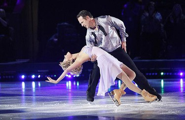 Shae-Lynn Bourne and Claude Lemieux perform to Frank Sinatra's All The Way during Week two of CBC's Battle of the Blades  at Toronto's historic Maple Leaf Gardens on Oct. 11, 2009. (Handout)