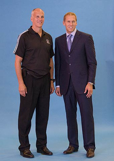 Raptors Head Coach Jay Triano and Raptors General Manager Bryan Colangelo at Raptors Media Day at the ACC on Sept. 28, 2009. (STAN BEHAL, Sun Media)