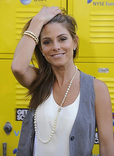 """Maria Menounos attends the """"Get Schooled"""" conference and premiere hosted by the Bill and Melinda Gates Foundation and Viacom in Los Angeles Sept. 8, 2009. REUTERS/Phil McCarten"""