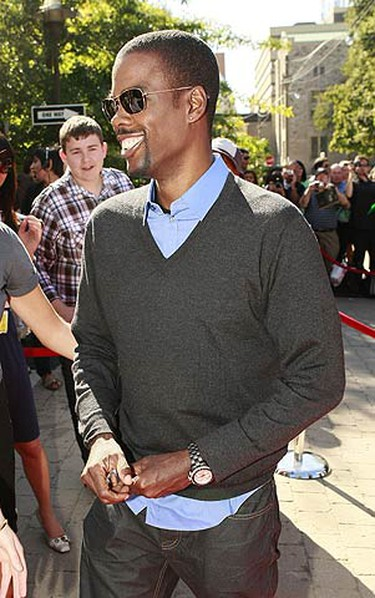 Actor Chris Rock on the Red Carpet at the screening of Good Hair. (MARK O'NEILL, Sun Media)