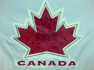 Sneak peak at Team Canada's Vancouver 2010 hockey sweaters. The official unveiling happens today in Vancouver. (Photo courtesy ICETHETICS)