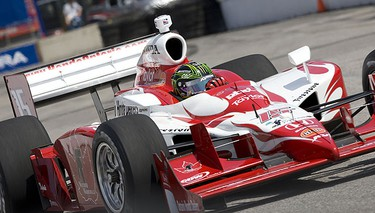 The Thrill from West Hill, Paul Tracy speeds around the course at the Honda Indy on July 10, 2009. PETE FISHER/Sun Media