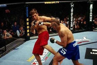 Chuck Liddell vs. Renato Sobral [UFC 40: Vendetta]. Remember when Liddell threw more than just looping punches? Those were the days. At UFC 40, he knocked Sobral out with a stiff head kick. (UFC photo)